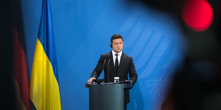 Image: Ukrainian President Volodymyr Zelensky Visits Berlin