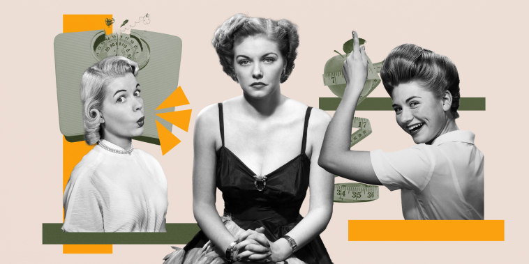 Collage of woman looking sad in the middle of two women looking happy