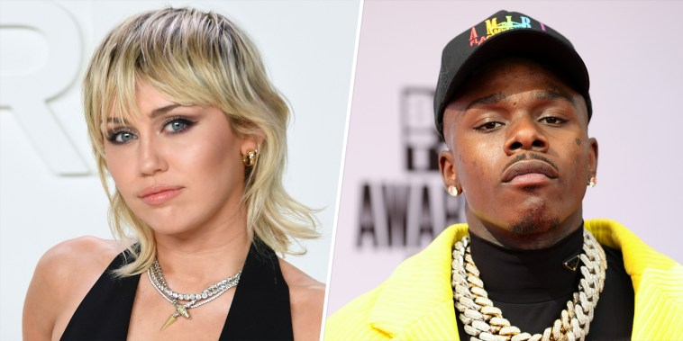 """Cyrus posted on Instagram on Wednesday night about how \""""we can learn from each other and help be part of making a more just and understanding future!\"""" She tagged rapper DaBaby in her caption, asking him to check his direct messages."""