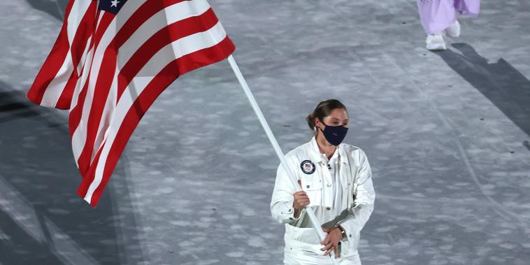 Flagbearer Kara Winger