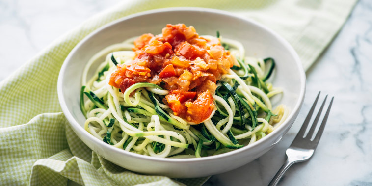 Fresh Zoodles with tomato sauce
