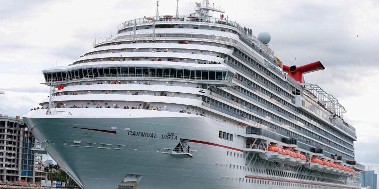 The Carnival Cruise Ship 'Carnival Vista'