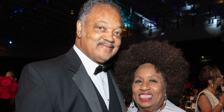 Jesse Jackson and his wife Jacqueline Brown attend the Phoenix Dinner for the 48th Annual Congressional Black Caucus Foundation on September 15, 2018.