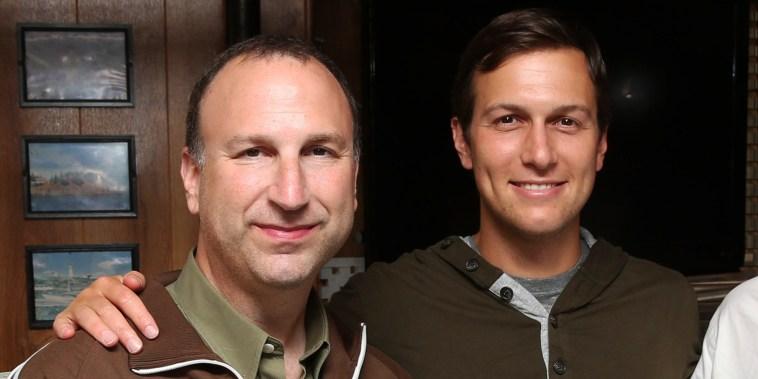Ken Kurson, left, and Jared Kushner in New York on June 15, 2015.