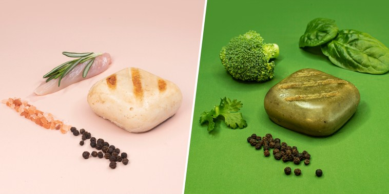 Split of square shaped food