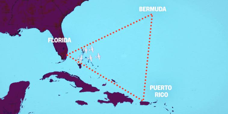 Map of the Bermuda Triangle