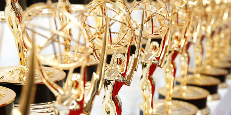 Backstage at the 67th Primetime Emmy Awards