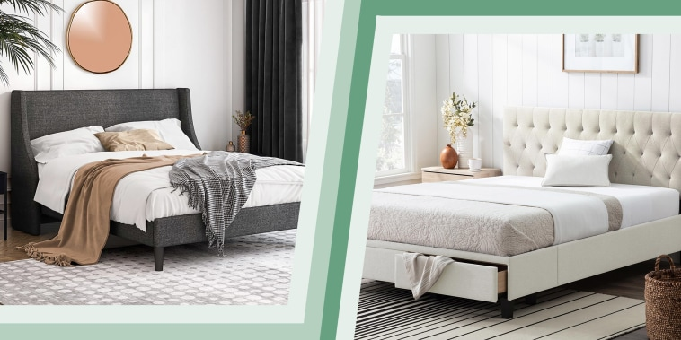 Image of two grey bed-frames