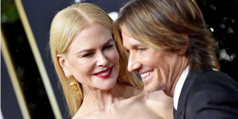 Nicole Kidman and Keith Urban smiling