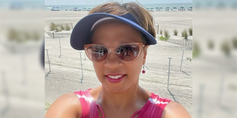 Author Sophia Nelson on vacation earlier this week in South Carolina.