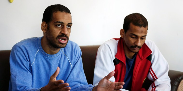 Alexanda Amon Kotey, left, and El Shafee Elsheikh,