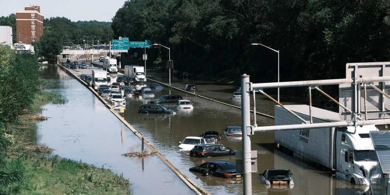 Image: Remnants Of Hurricane Ida Move Through Northeast Causing Widespread Flooding