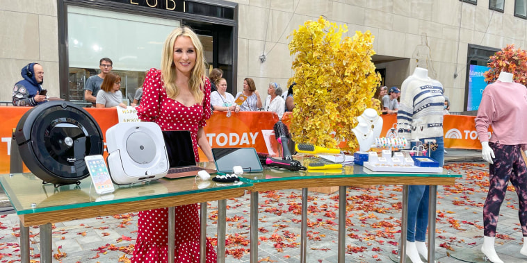 Chassie Post on the TODAY plaza talking about Labor Day Deals