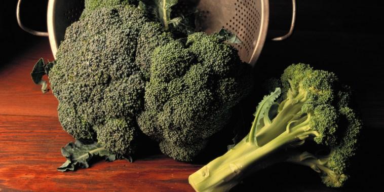 Broccoli with Colander