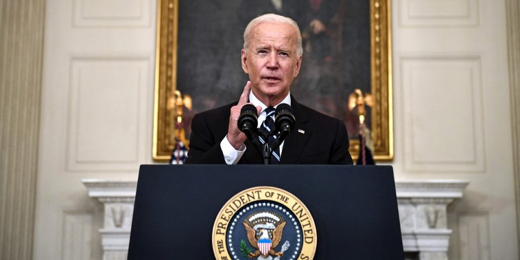 Image: President Joe Biden delivers remarks on plans to stop the spread of the Delta variant and boost Covid-19 vaccinations at the State Dinning Room of the White House on Sept. 9, 2021.