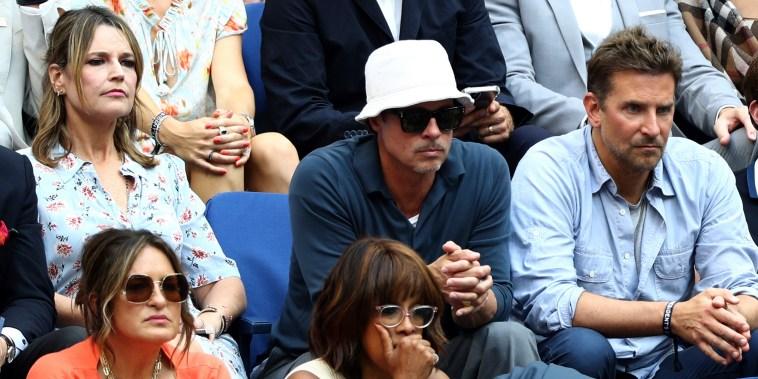 Brad Pitt,Bradley Cooper,Gayle King,Savannah Guthrie,Rami Malek,Mariska Hargitay,Ben Stiller,Laverne Cox,20210912 Novak Djokovic v Daniil Medvedev