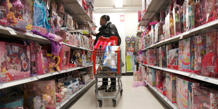 A woman shops for toys in a Kmart store in New York