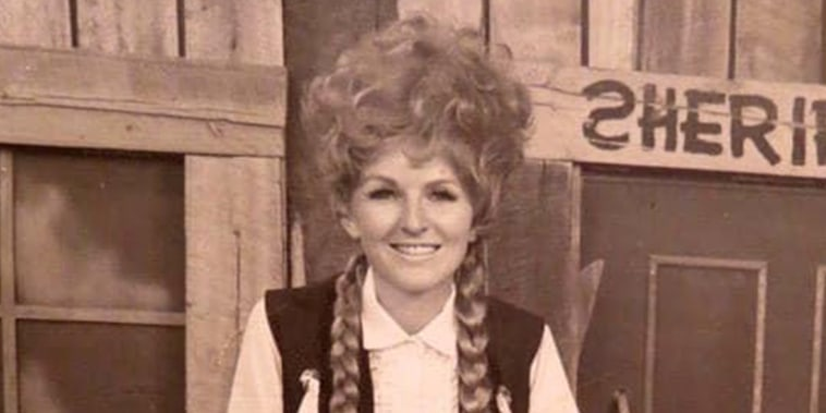 Leta Powell Drake in her role as Kalamity Kate on Cartoon Corral.