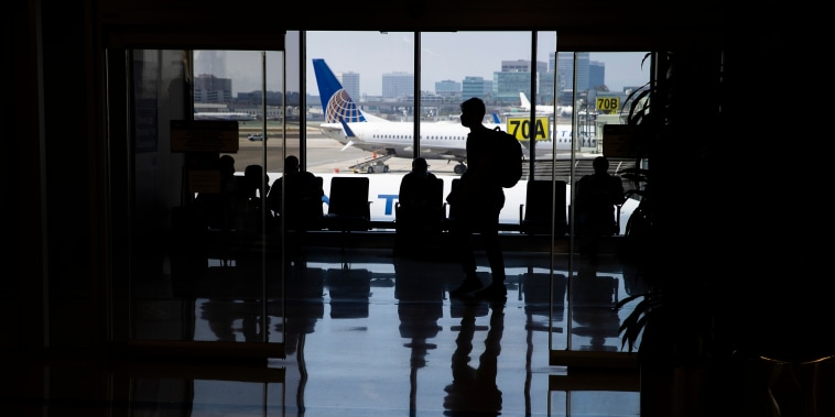 Image: travelers at LAX