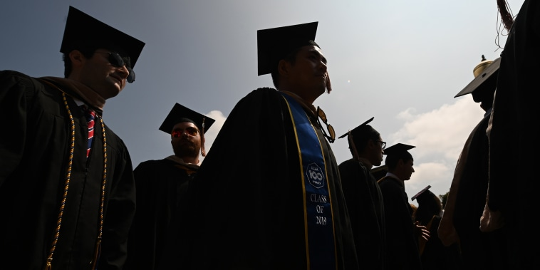 Image: A graduation ceremony at the University of California Los Angeles on June 14, 2019.