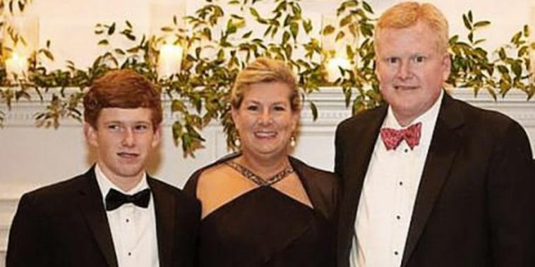 From left, Paul, Margaret and Alex Murdaugh.