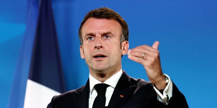 Image: Emmanuel Macron, European Union Leaders Summit as Bloc Imposes Sanctions on Belarus