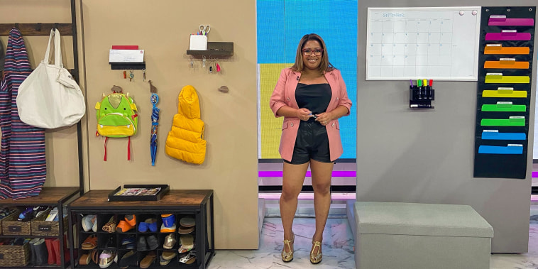 Ashley Jones Hatcher on the TODAY set discussing Home command centers to stay organized