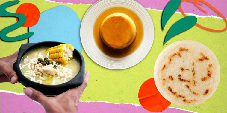 Collage of hispanic foods