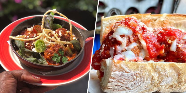 Recipes for Marcus Samuelsson's meatballs & sauce and meatball sub