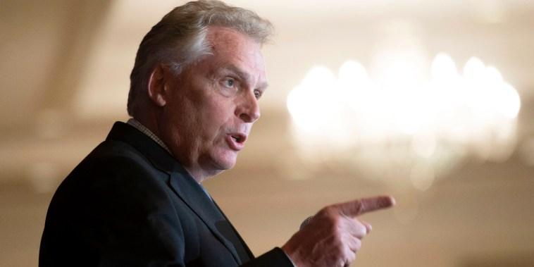 Virginia Democratic gubernatorial candidate Terry McAuliffe addresses the FREE Leadership Luncheon in McLean, Va. on Sept. 1, 2021.