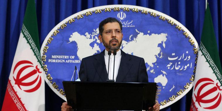 Image: Iranian Foreign Ministry Spokesman Saeed Khatibzadeh
