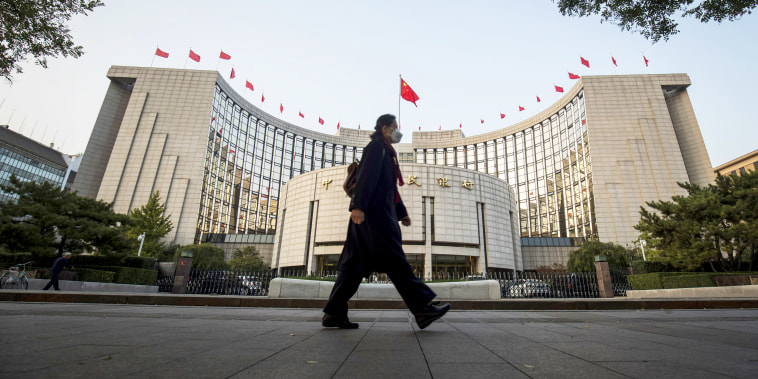 PBOC Headquarters as Central Bank Tests Demand for Two-Month Reverse Repos for First Time