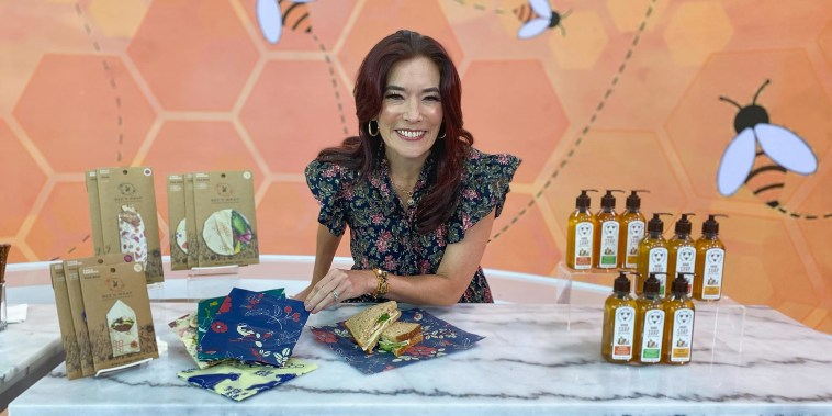 Amy E. Goodman shares National Honey Month buzzy products on broadcast