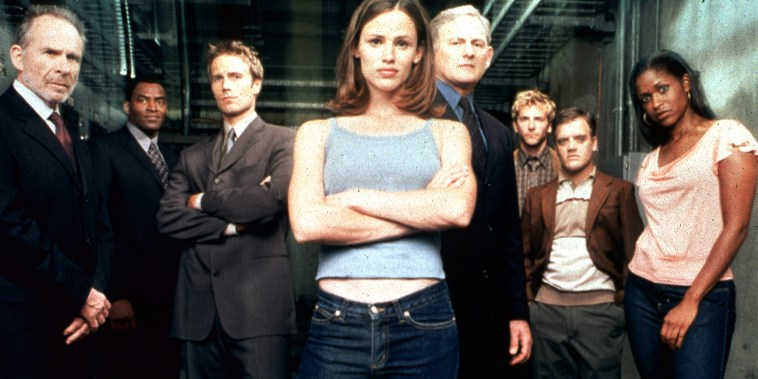 Film Still / Publicity Still from Alias Jennifer Garner and cast 2001 File Reference # 308471486THA  For Editorial Use Only -  All Rights Reserved