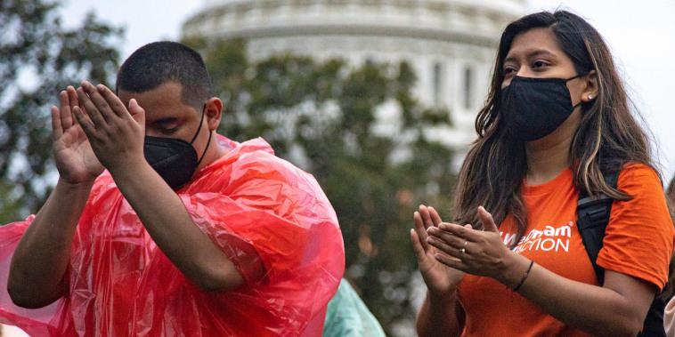 Immigration Activists Protest At U.S. Capitol
