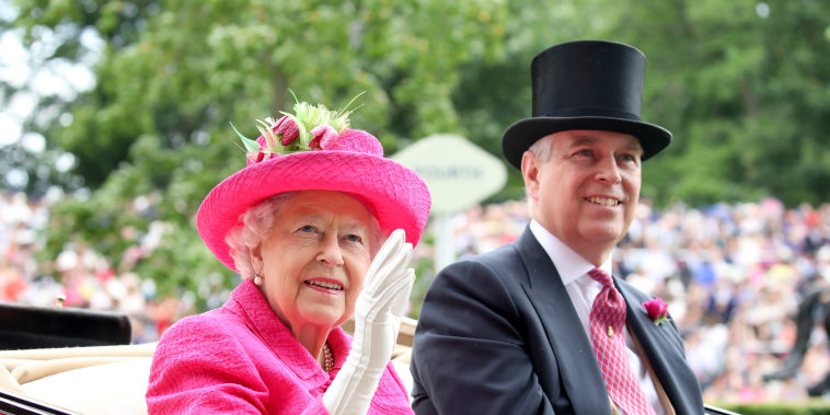 Image: Queen Elizabeth II and Prince Andrew