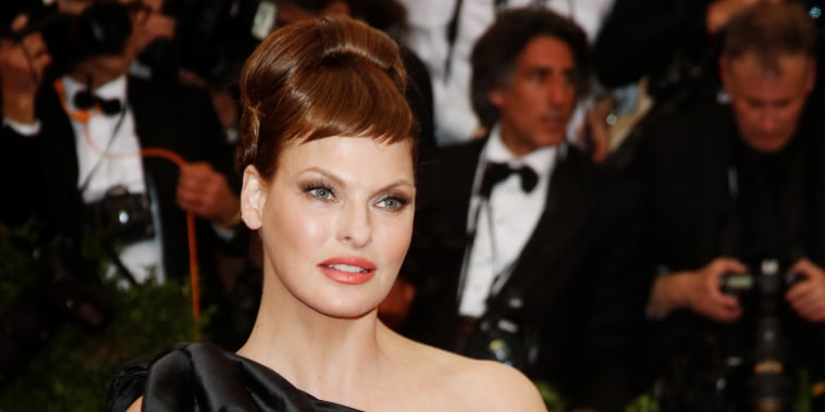 Image: Model Linda Evangelista attends the 2015 Costume Institute Gala Benefit at The Metropolitan Museum of Art in New York on May 4, 2015.