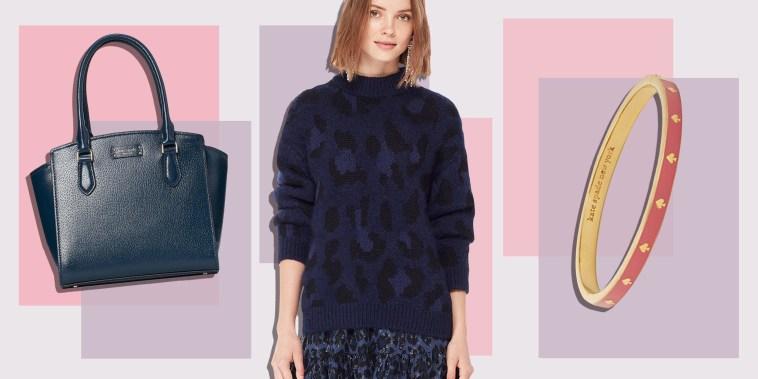 Illustration of a Kate Spade sweater, bag and bracelet all on sale