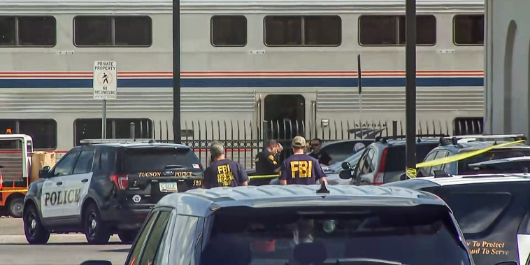 A shooting incident was reported onboard Amtrak's Sunset Limited train in Tucson, Ariz., on Oct. 4, 2021.