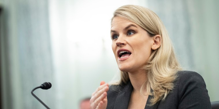 Former Facebook employee and whistleblower Frances Haugen testifies during a Senate hearing on Capitol Hill on Oct. 5, 2021.