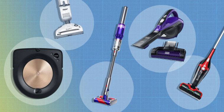 Illustration of four different types of cordless vacuums