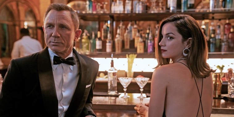 """Daniel Craig and Ana de Armas in \""""No Time to Die.\"""""""