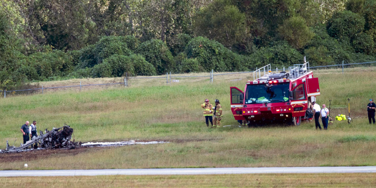 Emergency Response teams work the scene of a fatal small plane crash