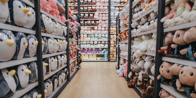 Close-Up Of Stuffed Toys For Sale In Store
