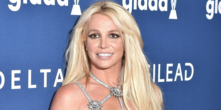 Britney Spears attends the 29th Annual GLAAD Media Awards - Arrivals at The Beverly Hilton Hotel on April 12, 2018.