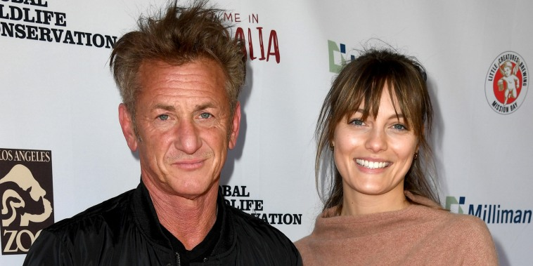 """Sean Penn and Leila George arrive at the """"Meet Me In Australia"""" event benefiting Australia Wildfire Relief Efforts at Los Angeles Zoo on March 08, 2020."""