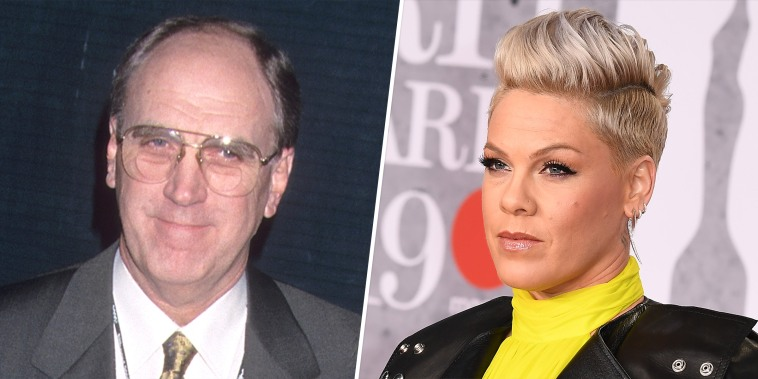 Singer Pink and father Jim Moore