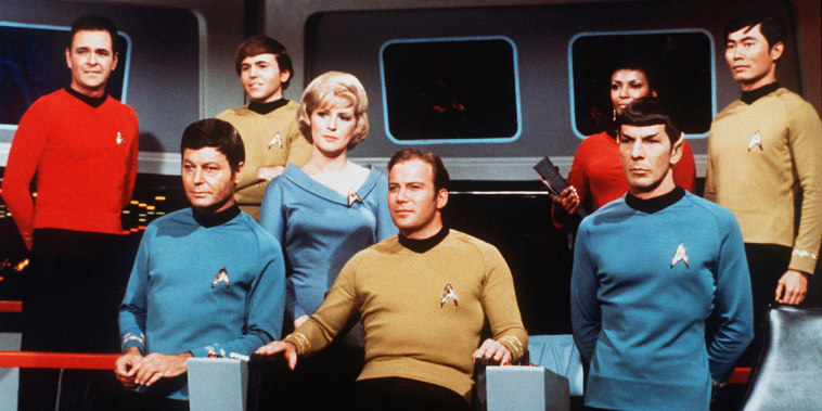 On the set of the TV series Star Trek