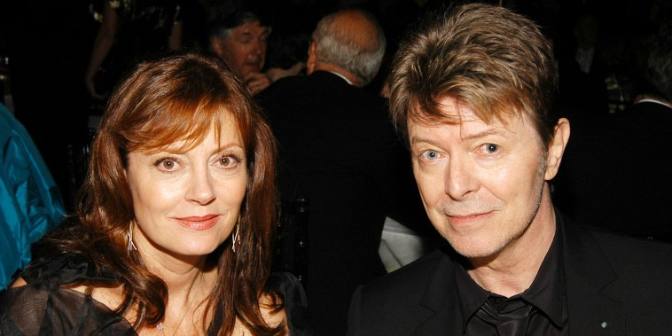 Susan Sarandon and David Bowie attend Metropolitan Opera Opening Night Dinner at Lincoln Center on September 25, 2006.