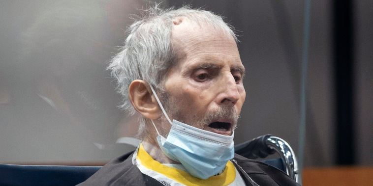 Image: New York real estate scion Robert Durst, 78, sits in the courtroom as he is sentenced to life in prison without chance of parole, on Oct. 14, 2021 at the Airport Courthouse in Los Angeles.